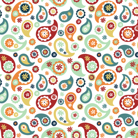 Suzani Paisley fabric by elephantandrose on Spoonflower - custom fabric