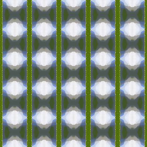 White ikat fabric by greennote on Spoonflower - custom fabric