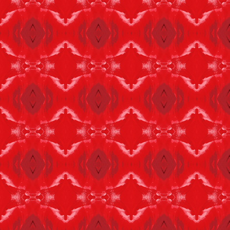 Red ikat fabric by greennote on Spoonflower - custom fabric