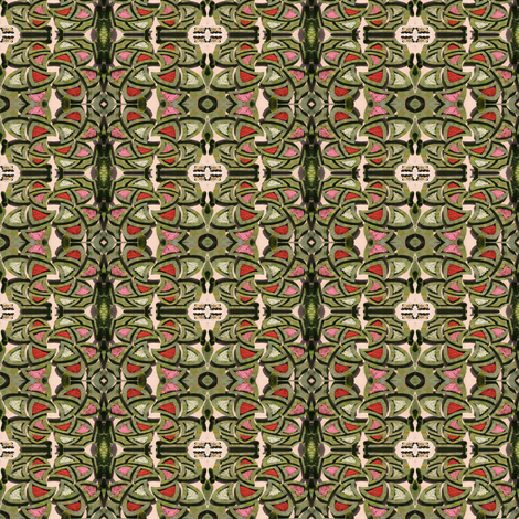 Knotted garden fabric by greennote on Spoonflower - custom fabric