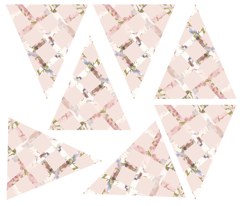 Shabby Chic Lattice bunting fabric by karenharveycox on Spoonflower - custom fabric