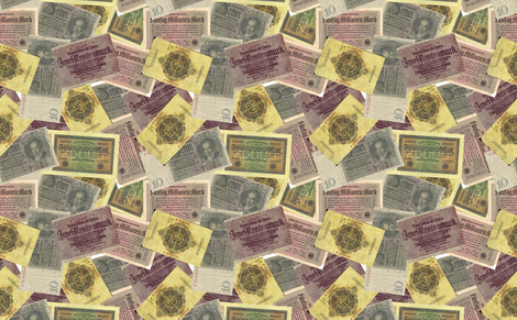 German Money fabric by candyce on Spoonflower - custom fabric