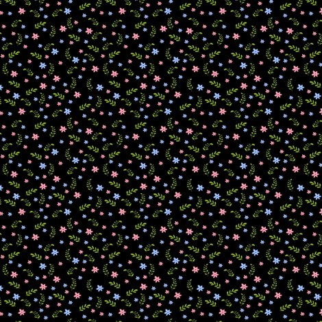 Ditsy black bee fabric by raccoons_rags on Spoonflower - custom fabric