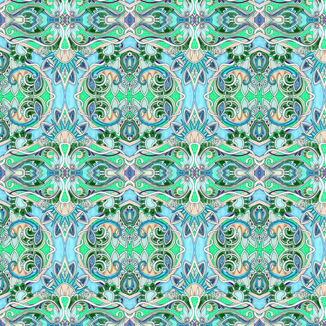 Pass Me Another Mint Julep, Dahling fabric by edsel2084 on Spoonflower - custom fabric