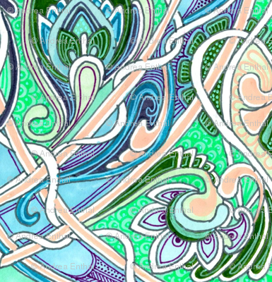 Nouveau Paisley Ruminations on a Dining Room Chair Back