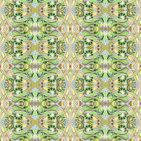 Sunshine Garden Romance (a scallop vertical stripe) fabric by edsel2084 on Spoonflower - custom fabric