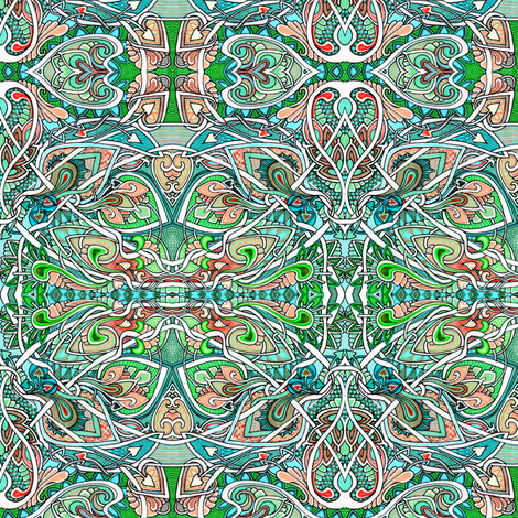 The Tangled Garden Path to Love fabric by edsel2084 on Spoonflower - custom fabric
