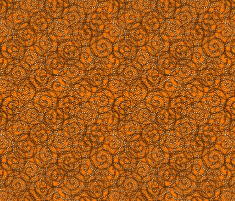 gypsy_swirls_orange fabric by glimmericks on Spoonflower - custom fabric
