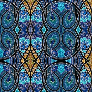 Amoebas Go Art Nouveau in Stained Glass