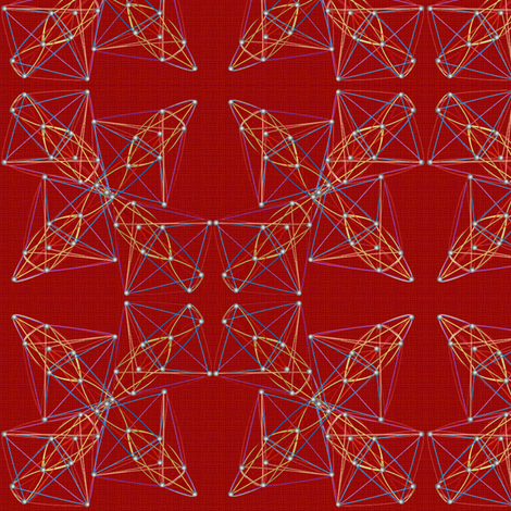 string_art_red_canvas fabric by glimmericks on Spoonflower - custom fabric