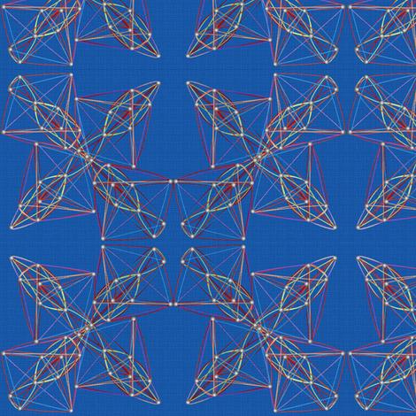 string_art_blue_canvas fabric by glimmericks on Spoonflower - custom fabric