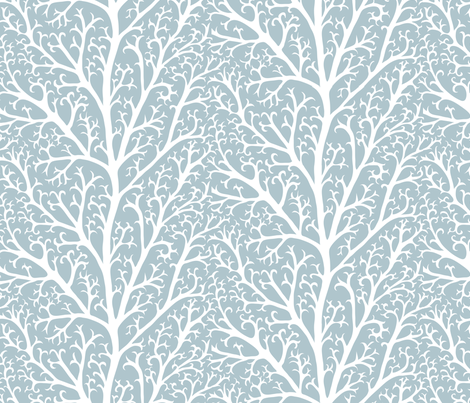 Winter branches fabric by kezia on Spoonflower - custom fabric