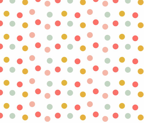 Carnival Scatter Dots in Summer Brights fabric by willowlanetextiles on Spoonflower - custom fabric