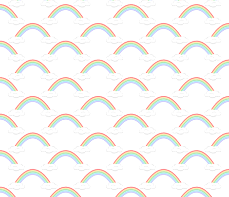 rainbows fabric by kategabrielle on Spoonflower - custom fabric