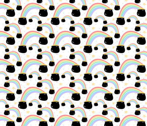 pot 'o gold fabric by kategabrielle on Spoonflower - custom fabric
