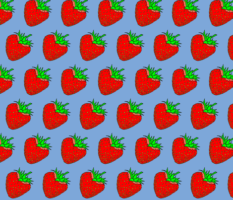 Strawberry Fields fabric by sweetie_netts on Spoonflower - custom fabric