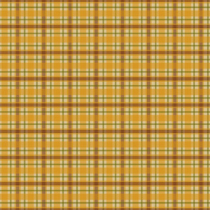 Gold Plaid Country Prim