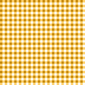 Gold Gingham Checks Country Prim