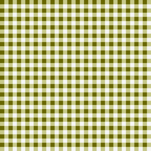 Green Gingham Checks Country Prim