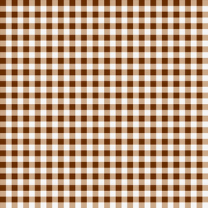 Brown Gingham Checks Country Prim
