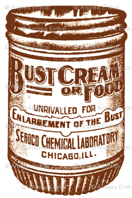 Bust Enlargement Cream 1890's advertisement in sepia