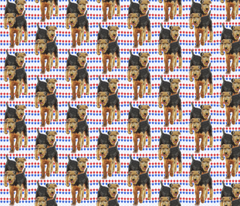 Airdale Terriers and stars fabric by dogdaze_ on Spoonflower - custom fabric