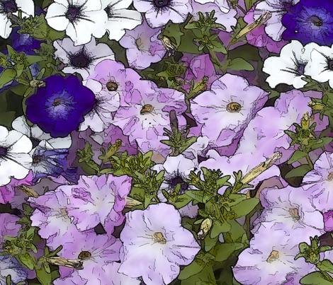 Petunias fabric by accio_fabric on Spoonflower - custom fabric