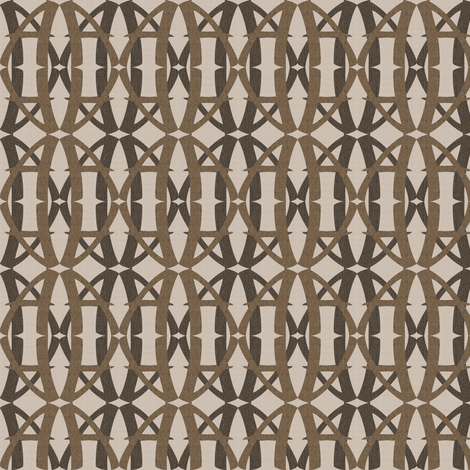 Loops - Brown fabric by telden on Spoonflower - custom fabric