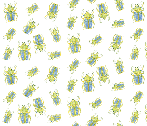 Beetle Scatter fabric by bad_penny on Spoonflower - custom fabric