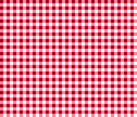 Red Gingham Checks Country Prim fabric by cherie on Spoonflower - custom fabric
