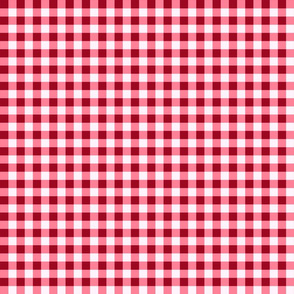 Red Gingham Checks Country Prim