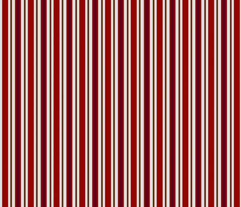 Country Prim Stripes in Red fabric by cherie on Spoonflower - custom fabric