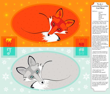 Fire/SnowFox-Warmable/Freezable Pillow fabric by juliesfabrics on Spoonflower - custom fabric