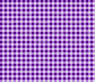Purple Gingham Checks, Country Prim