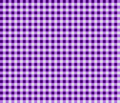 Purple Gingham Checks, Country Prim fabric by cherie on Spoonflower - custom fabric