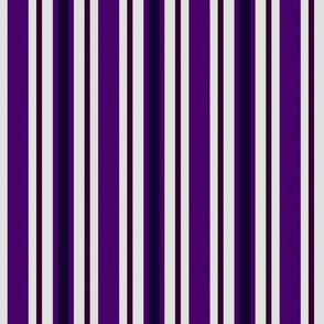 Country Prim Ticking Stripes in Purple