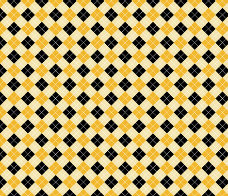 black gold & champagne argyle fabric by thebaxterboy on Spoonflower - custom fabric