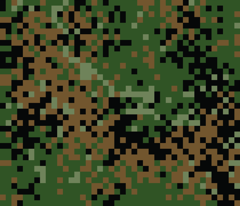Latvian Woodland Digital Camo Fabric By Ricraynor On Spoonflower