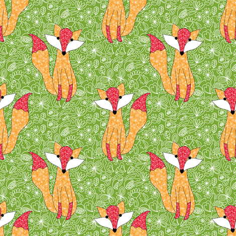 A foxy with moxie fabric by vo_aka_virginiao on Spoonflower - custom fabric