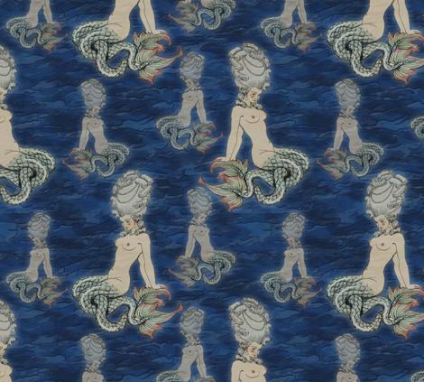 The Little Rococo Mermaid Fabric Bonnie Phantasm