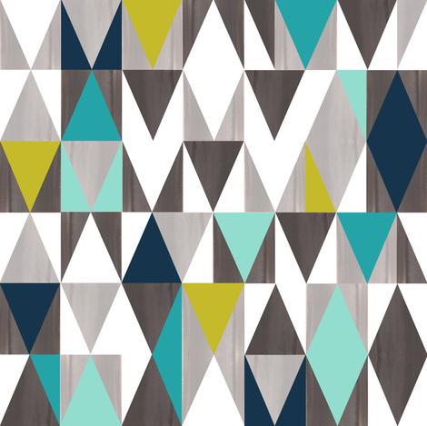 Jewel- Denim and Mustard fabric by elephantandrose on Spoonflower - custom fabric