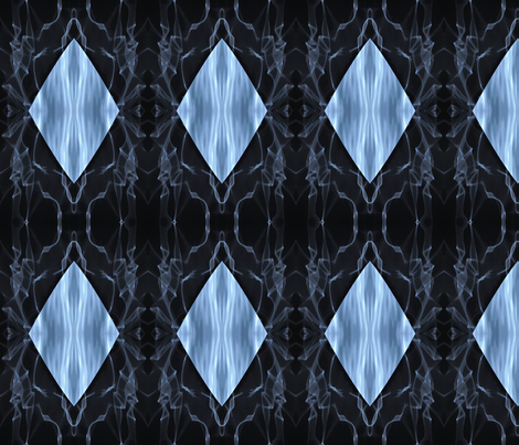 Smoke and mirrors fabric by greennote on Spoonflower - custom fabric