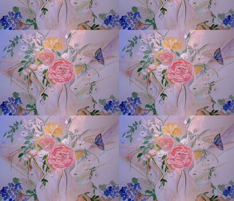 rosey_dream_2_by_geaausten-d5u4k1v fabric by geaausten on Spoonflower - custom fabric