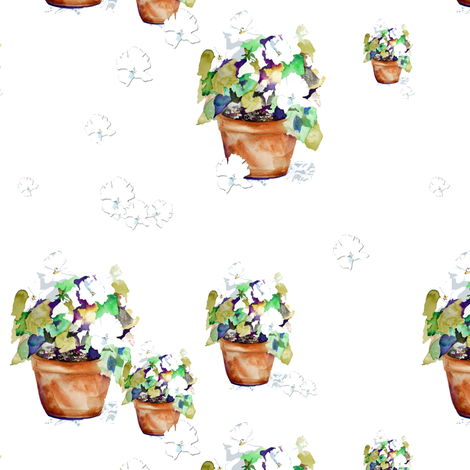 Showers of Petunias fabric by karenharveycox on Spoonflower - custom fabric