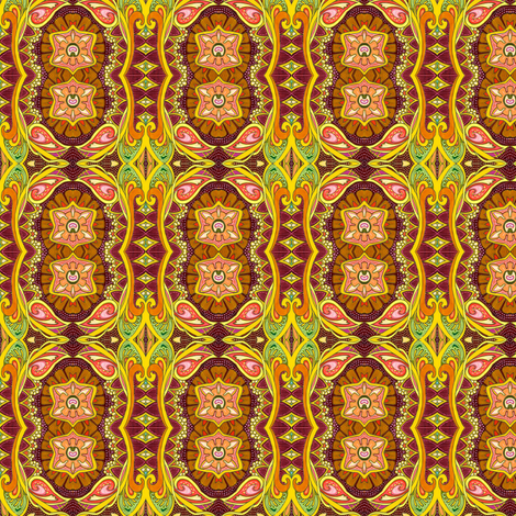 It Might as Well Be Spring (art nouveau tinged floral vertical stripe) fabric by edsel2084 on Spoonflower - custom fabric
