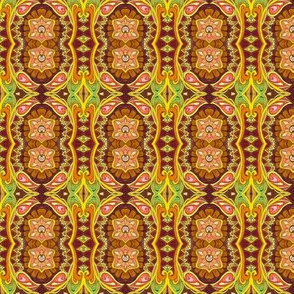 It Might as Well Be Spring (art nouveau tinged floral vertical stripe)