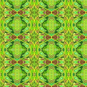 Psychedelic Gardens (a twisting vines abstract in green)