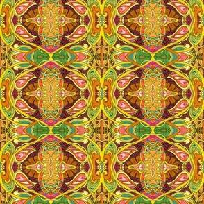 Psychedelic Under a Summer Sun (drippy figure 8 vertical stripe)