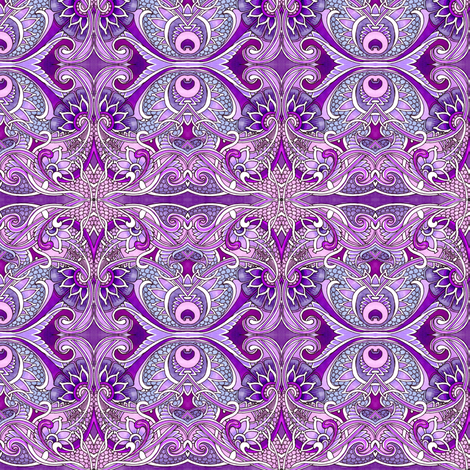 Wine and Blueberry Paisley Patch fabric by edsel2084 on Spoonflower - custom fabric