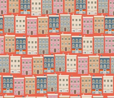 retrò ville fabric by ithinkp_print on Spoonflower - custom fabric
